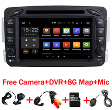 In Stock Android 7.1.1 7 Inch Car DVD Player  For Mercedes Benz W209 W203 W163 W463 Viano W639 Vito Wifi 3G GPS Bluetooth Radio