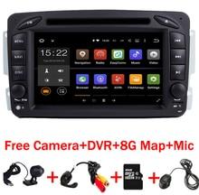 В наличии Android 7.1.1 7 дюймов dvd-плеер автомобиля для Mercedes Benz W209 W203 W163 W463 Viano W639 Vito Wi-Fi 3G GPS Bluetooth Радио