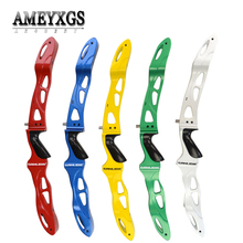 1pc 25inch Recurve Bow Riser ILF Takedown Magnesium Alloy Handle For Hunting Sports Shooting Competition Archery Accessories