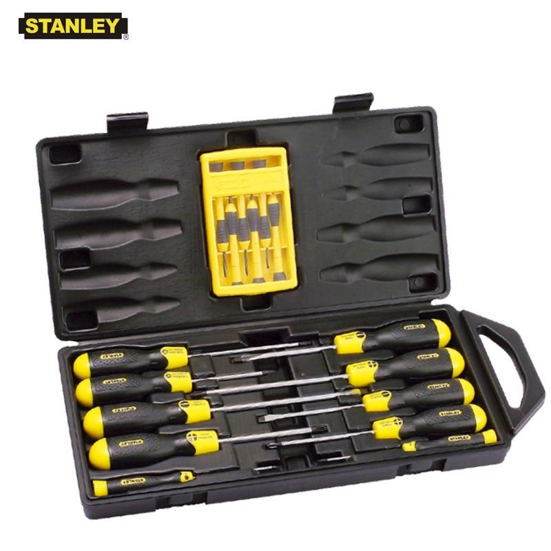 Stanley 16 pièces 10 pièces 13 pièces fendue phillips torx magnétiseur précision jeu de tournevis multifonction kit électricien