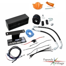 Papanda Black Motorbike Reefer Full Oil Cooler Fan Assembly Cooling System for Harley Touring 2009-2016