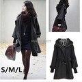 Envío gratis 2014 nuevo otoño invierno de las mujeres de moda chaqueta de lana escudo abrigos ZQ113