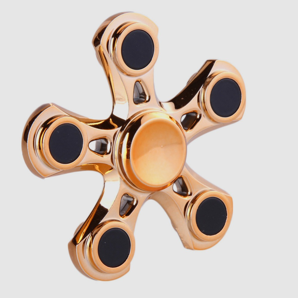 2018 Newest Multi Color Plastic Pentagon Gyro Hand Finger Spinner Fidget Anxiety Stress Relief Focus Toy Gifts