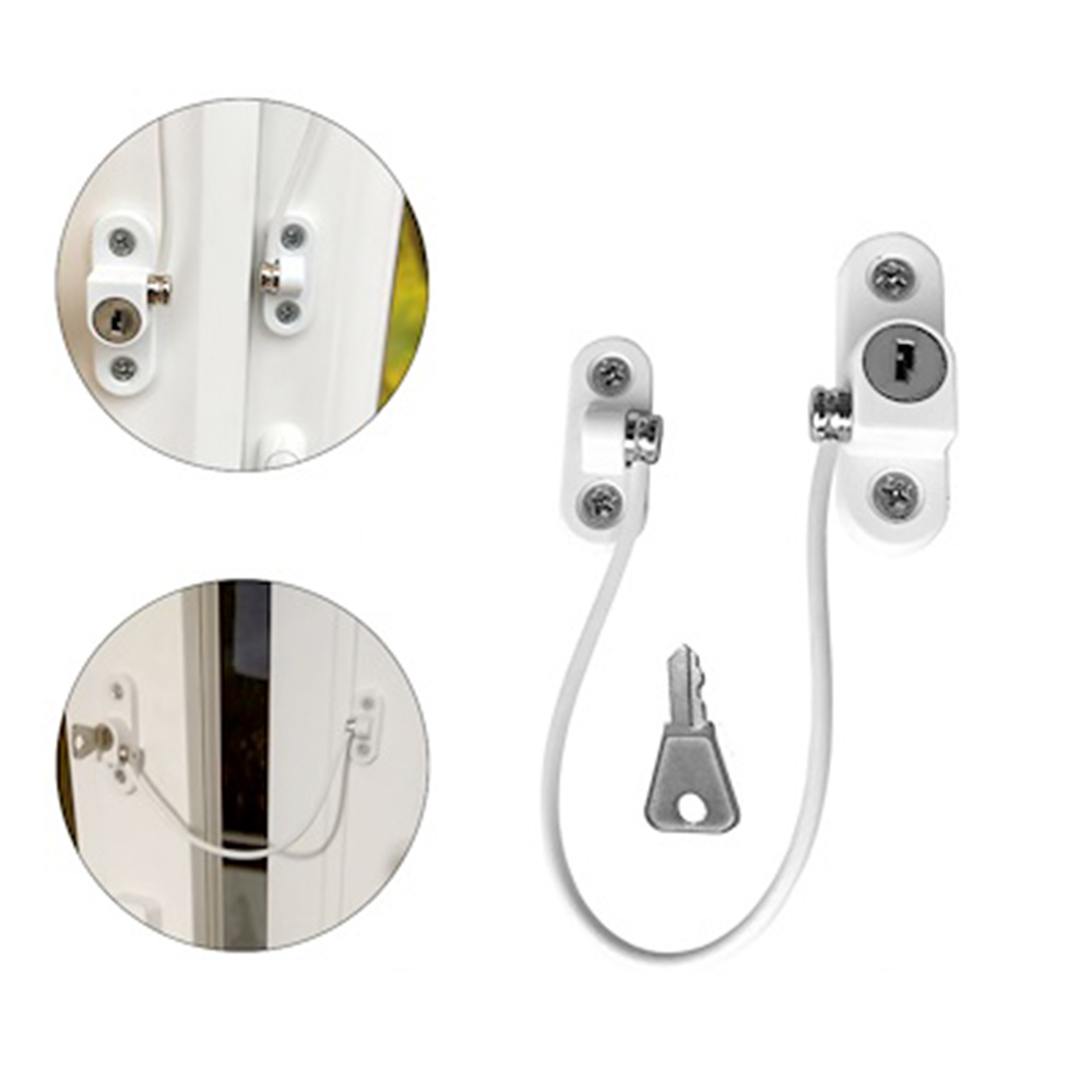 4Pcs Baby Safety Window Chain Locks Childproof Security Lockers Kids Anti Falling Window Lock Children Safety Cupboard Latches
