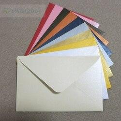 50 pçs 17x11cm (6.6 x 4.3) 120g pérola cor envelope de papel para cartão de convite