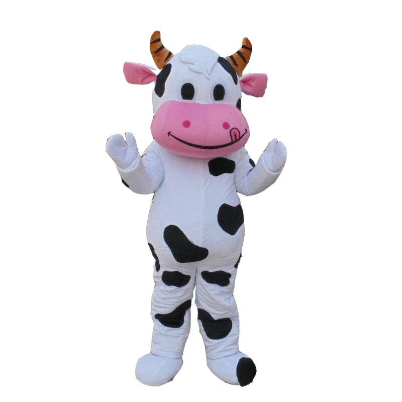 Halloween vache laitière mascotte costume haut adulte qualité dessin animé vache dessin animé Costumes