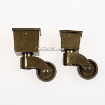 4PCS/LOT Heavy Duty Universal Furniture Casters European Antique Table Chair Sofa Rollers Runners Mute Nylon Wheels