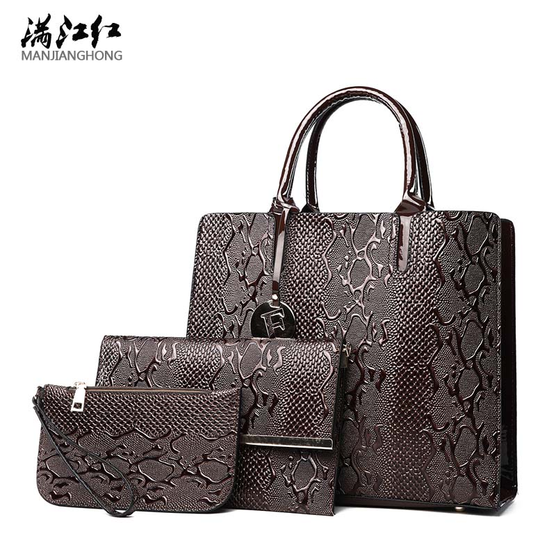 New 3 Sets Women Leather Bag Messenger Composite Bags Ladies Designer Handbags High Quality Designer Print Female Classic Bag high quality tote bag composite bag 2