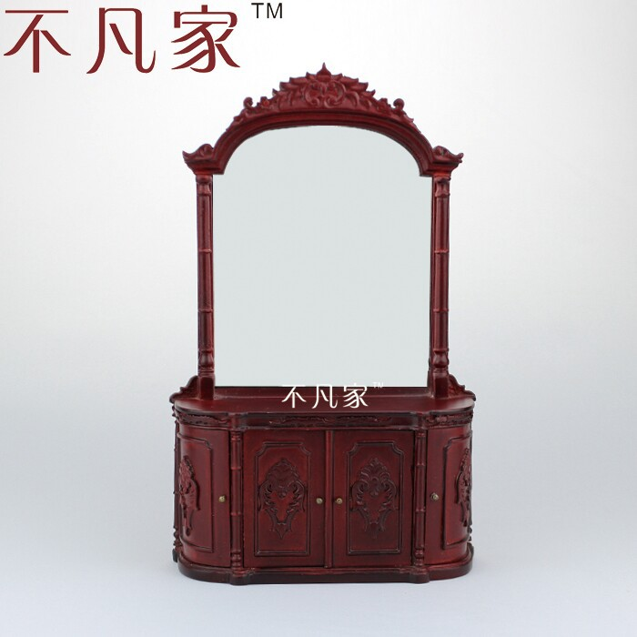 dollhouse 1:12scale Fine  special offer miniature furniture painted kitchen display cabinet 1 12 dollhouse miniatures furniture re ment refrigerator hearth integral kitchen lampblack machine