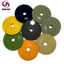 (3DS1) 3 7 pieces/lot Wet Polishing Pads/diamond polishing pads for granite and marble/80 mm wheels polishing+ Wholesale