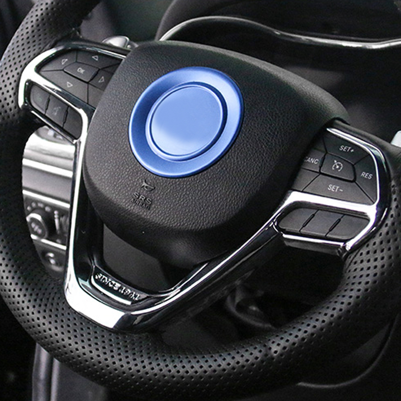 For Jeep Grand Cherokee 2014-2017 ABS Chrome Interior Steering wheel cover 1PCS