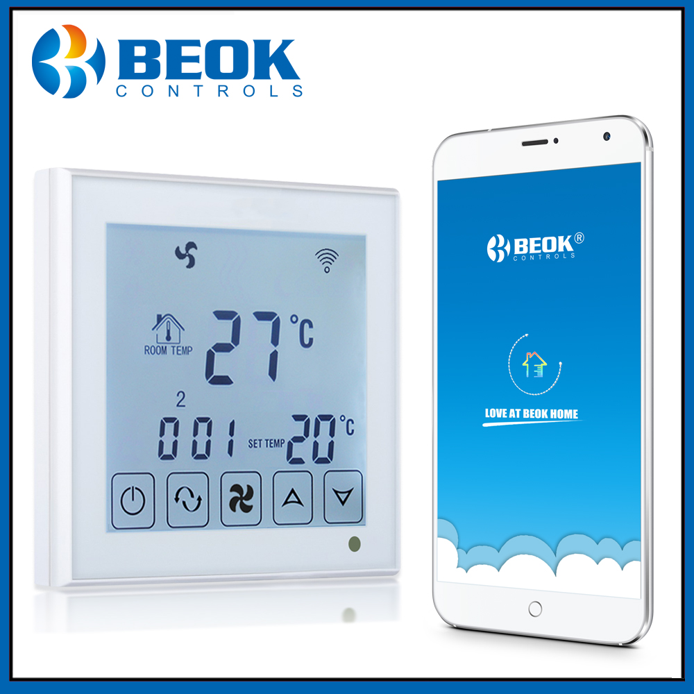 Beok TDS23WIFI AC Smart Central Air Conditioner Temperature Controller 2 pipe Fan Coil Thermostat for Air