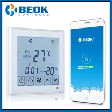 Beok TDS23WIFI AC controlador de temperatura inteligente para aire acondicionado, termostato de bobina de ventilador de 2 tubos para aire acondicionado Central