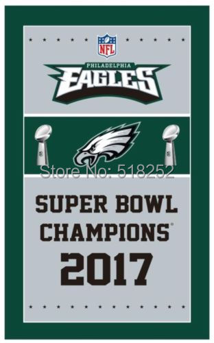 535f340a0e6 PHILADELPHIA EAGLES 2017 SUPER BOWL CHAMPIONS FLAG 3x5 FT Banner 100D  Polyester NFL flag 112
