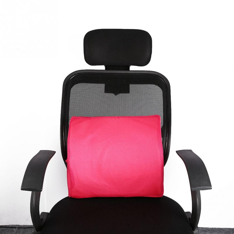 Lumbar Support Office Chair Cushion Contemporary Bar Chairs Smelov Memory Foam Car Seat Health Care Pillow Lower Back Pain Relief Blue In From Home Garden