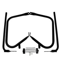 REWMTER Motorcycle Side box shield bracket/ Support Bar Black/Electroplate For Harley Touring Road King Road Glide FLHTC FLTRU