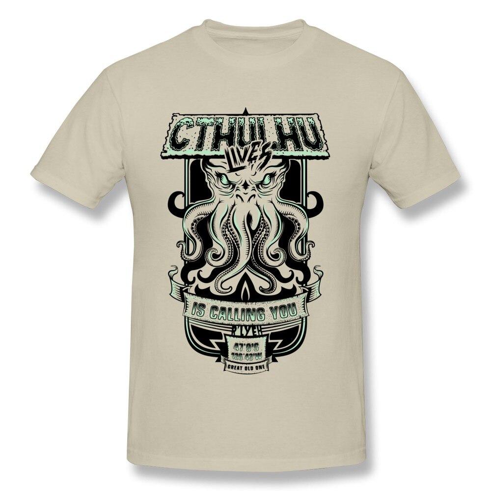 d1882b535 Funny T-Shirts Men Cthulhu is Calling You t shirt Discount Cotton Summer  Clothing Adult DIY Custom Shirt