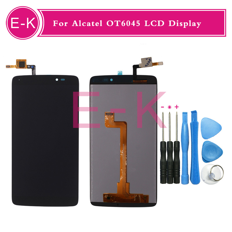 For Alcatel One Touch Idol 3 6045 OT6045 6045Y LCD Display+Touch Screen Digitizer Assembly Replacement+tools