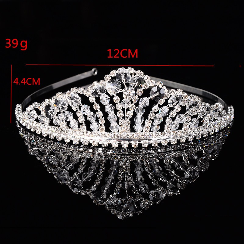 925 sterling silver luxury queen crown for women shine Austrian crystal tiara for bride wedding hair accessories 585 gold plated jewelry gifts HF012 (4)