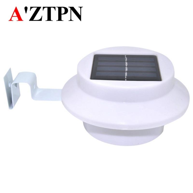 Outdoor 3 LED Garden Light Lamp Wall Fence Roof Gutter Lighting Solar Powered