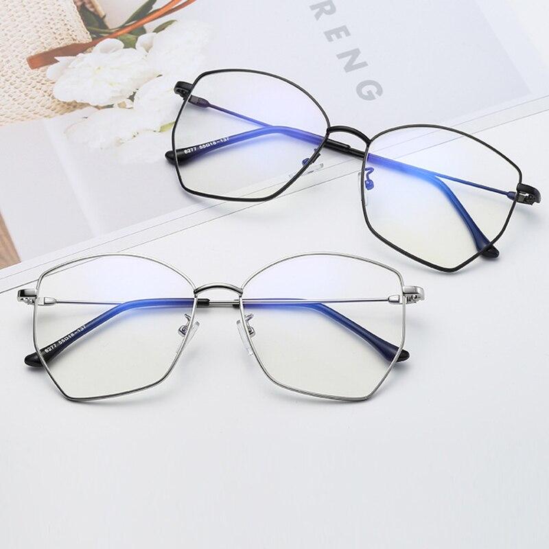 Myopie Persönlichkeit Fertig Metall Ultraleicht Gläser Männer Computer Polygonal Rezept Brillen Rahmen Frauen Brille dCwFRHFxq
