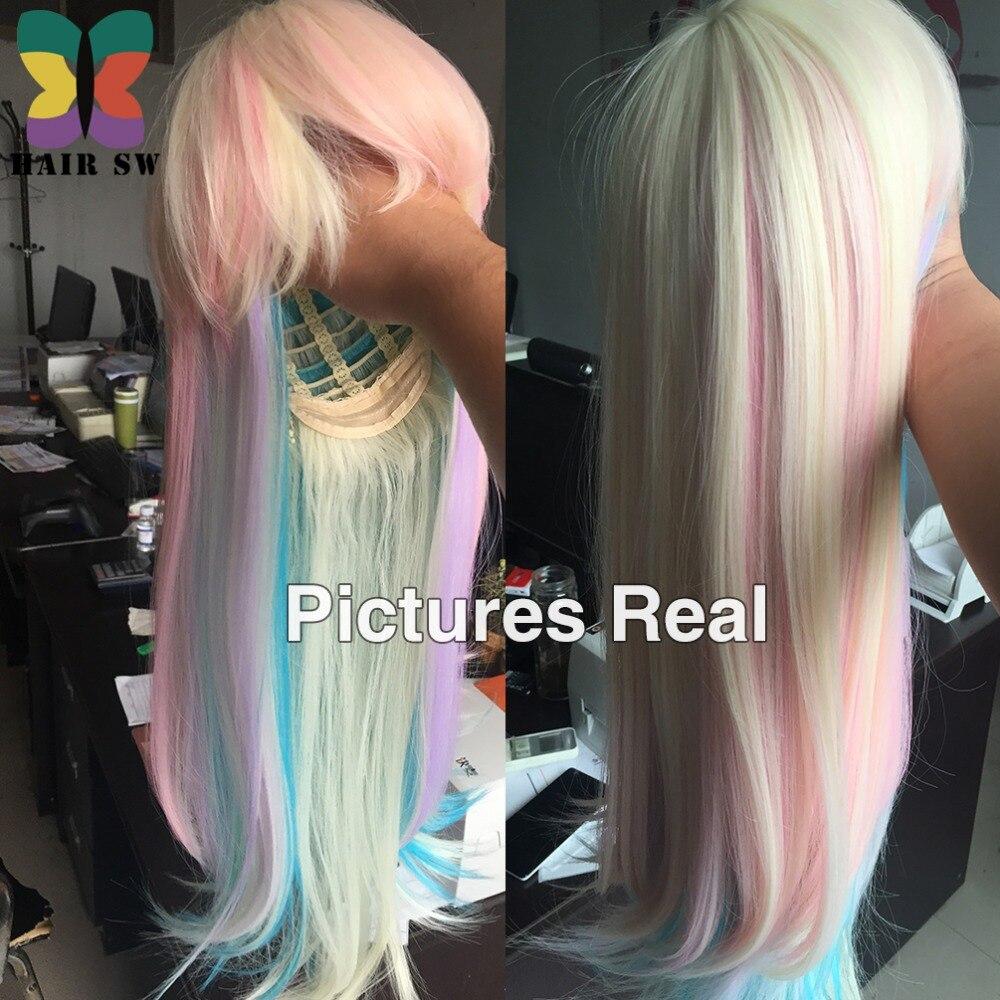 HAIR SW Long Straight Synthetic Hair Fairy prinsessa peruk - Syntetiskt hår - Foto 2