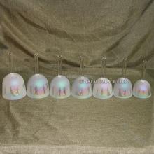Chakra набор египетского дизайна перламутровые цветные поющие чаши с ручкой и 5-й Октава высокий звук CDEFGAB музыкальная нотка