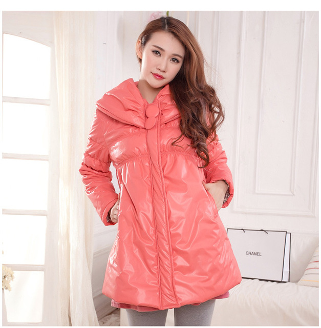 New Maternity Winter Coats Solid Thicken Clothes for Pregnant Woman Down Cotton Wadded Coat Women Parkas Maternity Coats E533