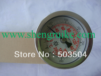 """WSS 3"""" Industrial Bimetal Thermometer with 3/4NPT Thread calibrated reset"""