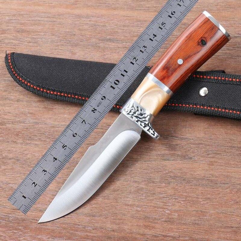 Survie en plein air lame fixe Couteau chasse armée Couteau a couteaux Cuchillo Tactico couteaux Oli Cyllell Peso Couteau