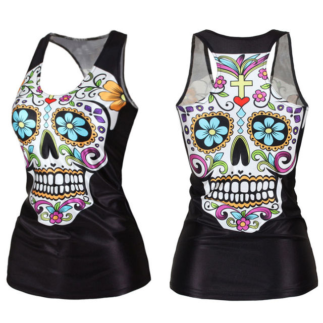 SKULL THEMED TANK TOP (4 VARIAN)