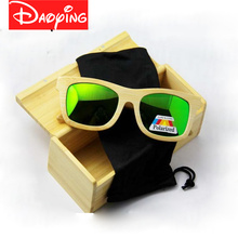 DAOYING 2017 New fashion Products Men Women Glass Bamboo Sunglasses au Retro Vintage Wood Lens Wooden Frame Handmade LUB102