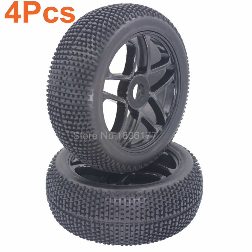 4pcs 3.2 RC 1/8 Off-Road Buggy Car Tires & Wheels Rim 17mm Hub For HSP HPI Redcat Baja 1 8 buggy on road tires 17mm for kyosho hobao hsp hpi 4pcs tires