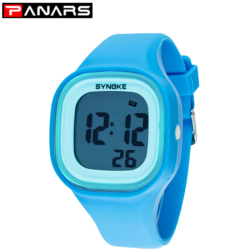 PANARS Kids Children Girl Boy Watches Wrist Watches Clock Silicone LED Light Digital Sport Watches Wholesale Erkek Saat