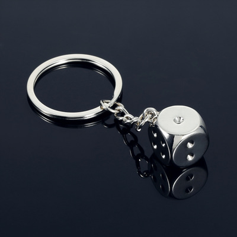 New Creative Key Chain Metal Personality Dice Poker Soccer Brazil Slippers Model Alloy Keychain for Car Key Ring