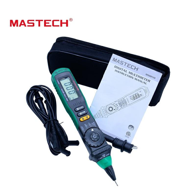 MASTECH MS8211 Pen-type multimètre digital Sans contact AC détecteur de tension de gamme Automatique Test Clip Livraison gratuite