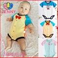 A jenny criança macacão de bebê meninas e meninos de algodão dos desenhos animados floral crianças verão fresco roupas para meninas e meninos de roupas