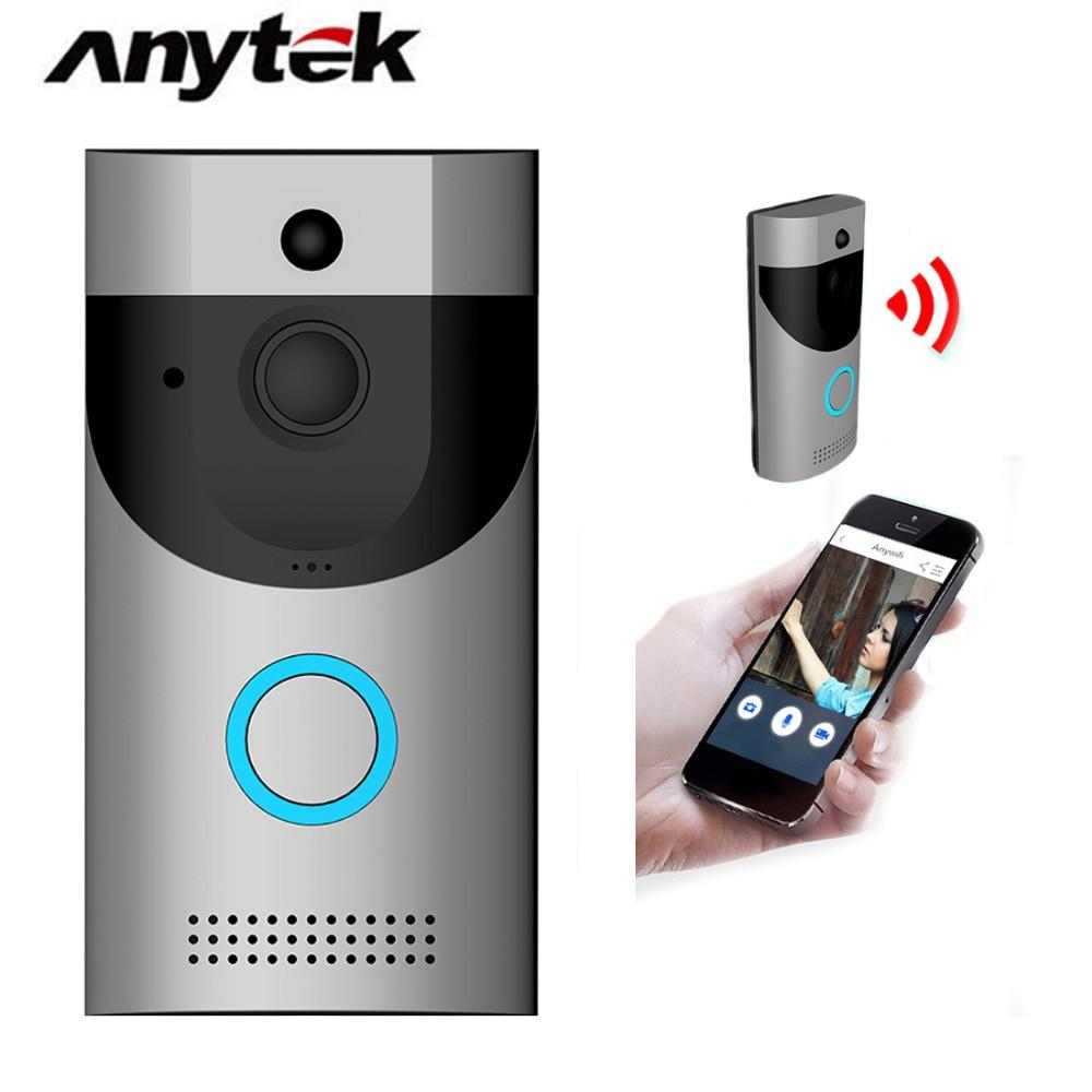 Anytek B30 Беспроводной Wi-Fi Домофон видео звонок + B10 дверной звонок приемник комплект дверной звонок Камера Wi-Fi видео Ночное видение