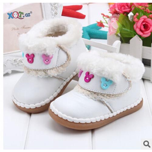 Nuevos 2016 botas de nieve botas zapatos de bebé de los niños shoes winter shoes for girls envío libre caliente de cuero genuino transpirable 1-1020