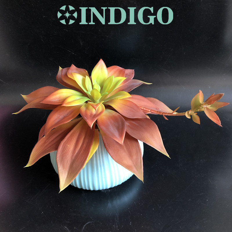 INDIGO- Large 28cm Water Lily Lotus Artificial Succulent Plant Plastic Real Touch Flower Background Decoration Free Shipping
