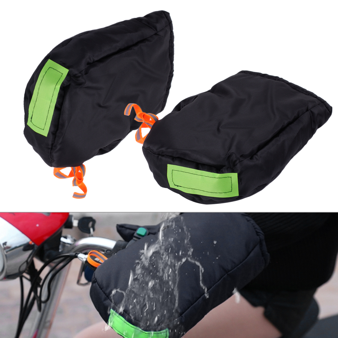 лучшая цена CITALL Car 1 Pair of Mitts Thermal Waterproof Motorcycle Grip HandleBar Muffs Hand Protector Mitts Gloves