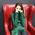 2016 Nuevas Mujeres de la Llegada Sólido Del Suéter Del Suéter de Manga Larga Ropa de Otoño Atractiva Delgada Femenina Tejer Tops 7 Colores En