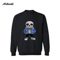 Cartoon Skeleton Pattern Mens Hoodies And Sweatshirts Black Gray Streetwear Sweatshirt Hip Hop Hoodies Oversize Anime