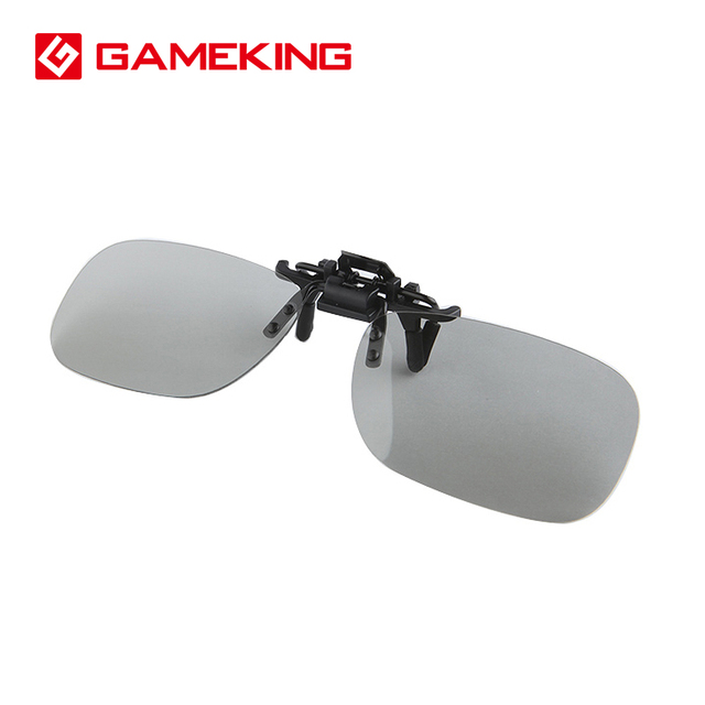 af9593f4cf4 Gameking 3D Glasses Clip On Passive RealD IMAX Polarized Eyeglasses Flip up  Film Cinema Movie Thin Eyeglasses Clip
