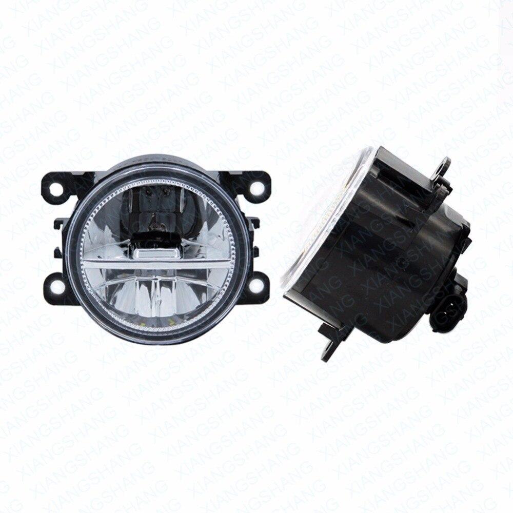 Светодиодные Передние противотуманные фары для Дачия Логан модели MCV (KS_) 2007-2008 автомобиля стайлинг круглый бампер DRL дневного вождения противотуманные фары