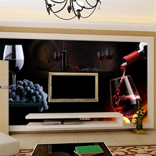 Custom wallpaper 3d mural papel de parede red wine TV background wall painting living room bedroom bar restaurant 3d wallpaper цена 2017