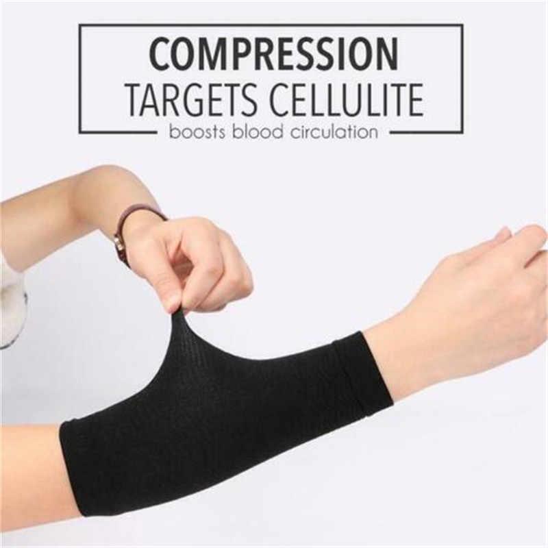 1 para odchudzanie kompresji ramię Shaper odchudzanie pasek na ramię pomaga Tone kształt ramiona rękaw kształt Taping masaż dla kobiet J #29