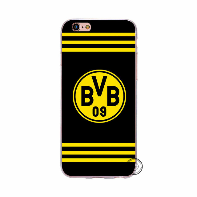 New Arrival Borussia Dortmund BVB Phone Back Skin TPU Silicone Case For Apple iPhone 5 5S SE 6 6S 6 7 Plus Back Covers Hull