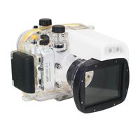 Meikon 40M WP DC44 Waterproof Underwater Housing Case 40M 130FT For Canon G1X Camera (18) as WP DC44