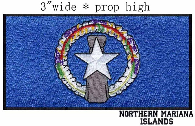Northern Mariana Islands Flag Custom Embroidery Patch 3 Wideocean